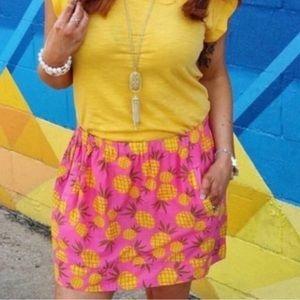 J. Crew Pink Pineapple Skirt Size Medium